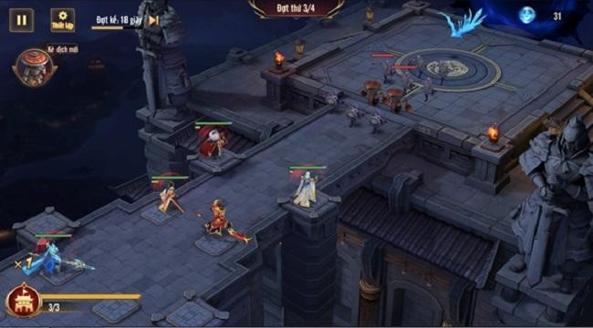 Tân OMG3Q VNG: Huyết Chiến – Tính năng Thủ Thành độc đáo trong dòng game đấu tướng chiến thuật