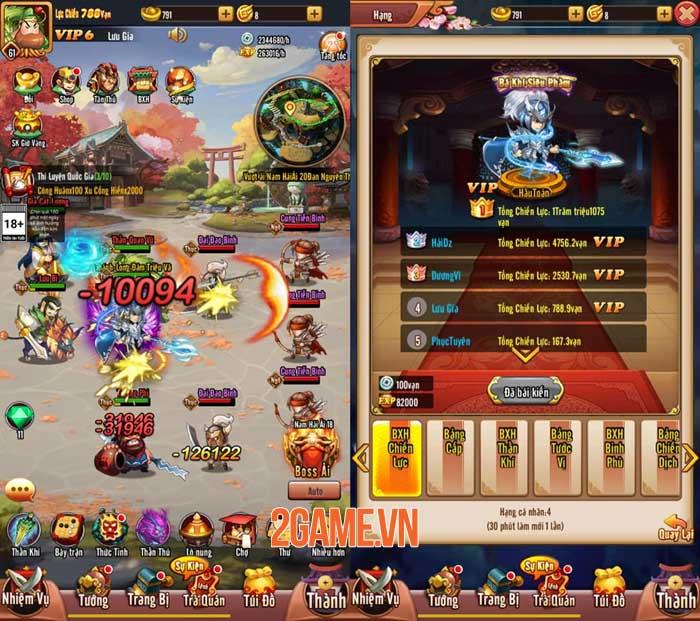 Chiu Chiu Tam Quốc Mobile ghi điểm ở lối chơi vui nhộn và sự gọn nhẹ 0