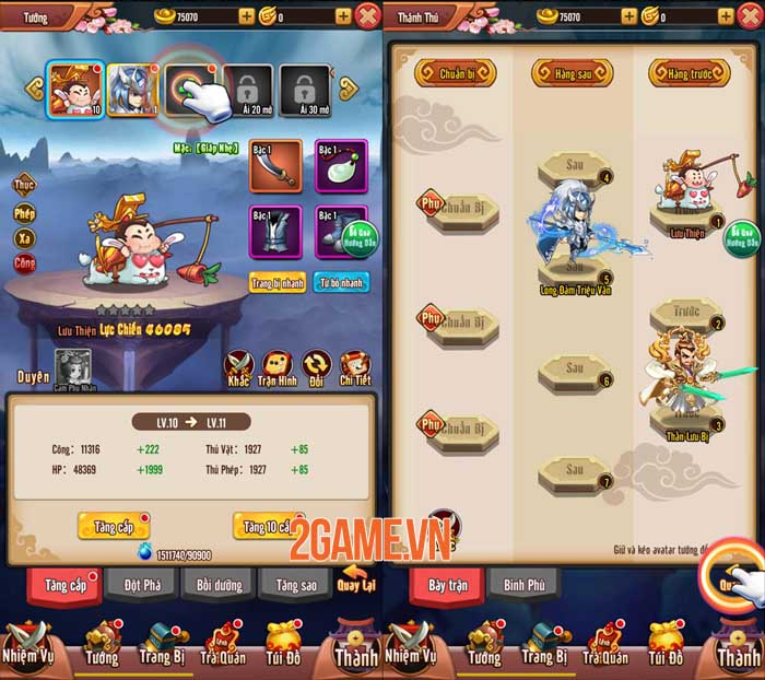 Chiu Chiu Tam Quốc Mobile ghi điểm ở lối chơi vui nhộn và sự gọn nhẹ 1