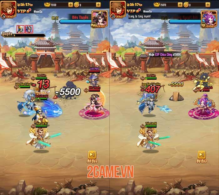 Chiu Chiu Tam Quốc Mobile ghi điểm ở lối chơi vui nhộn và sự gọn nhẹ 4
