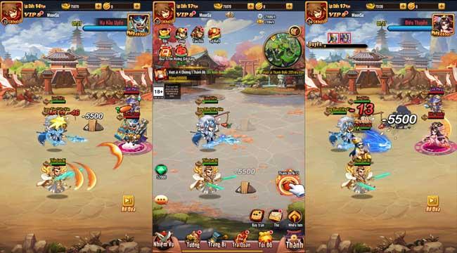 Chiu Chiu Tam Quốc Mobile ghi điểm ở lối chơi vui nhộn và sự gọn nhẹ