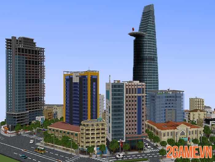 Nghỉ tránh dịch game thủ tái hiện một góc Hồ Chí Minh trong Minercraft 1