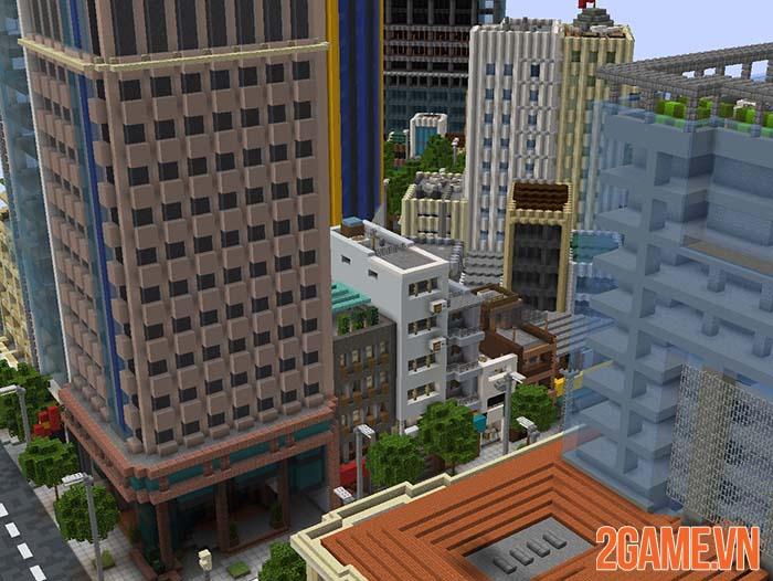Nghỉ tránh dịch game thủ tái hiện một góc Hồ Chí Minh trong Minercraft 2