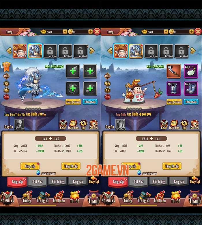 Chiu Chiu Tam Quốc Mobile có nhiều cách để nâng cấp sức mạnh đội hình 0