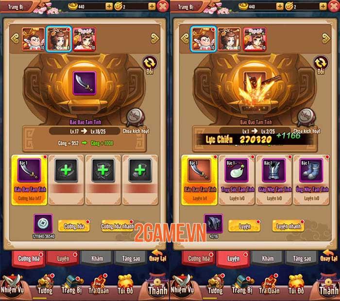 Chiu Chiu Tam Quốc Mobile có nhiều cách để nâng cấp sức mạnh đội hình 1