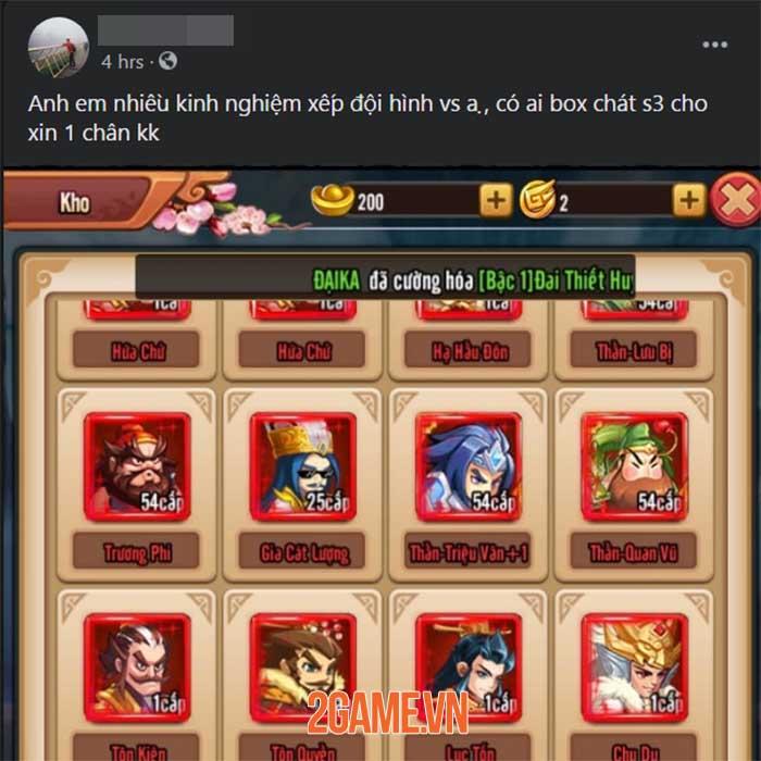 Game 3Q độc lạ Chiu Chiu Tam Quốc được game thủ Việt ủng hộ nhiệt tình 7