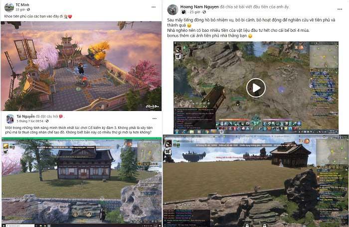Game thủ Cổ Kiếm Kỳ Đàm Online phát cuồng với tính năng xây dựng Tiên phủ 1