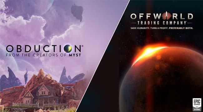 Obduction và Offworld Trading Company game chủ đề vũ trụ miễn phí