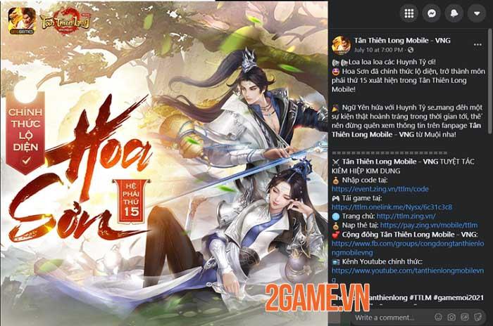 Cộng đồng Tân Thiên Long Mobile VNG hào hứng với loạt event đón môn phái mới Hoa Sơn 0