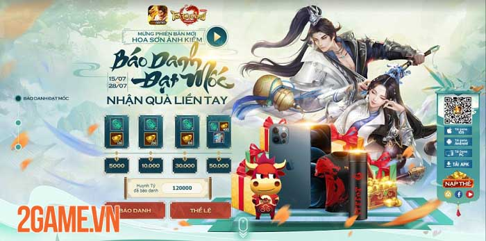Cộng đồng Tân Thiên Long Mobile VNG hào hứng với loạt event đón môn phái mới Hoa Sơn 2