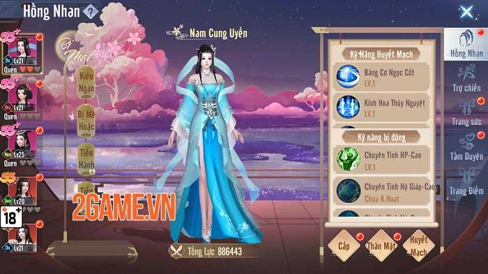 Cận cảnh tính năng Hồng Nhan của game Phàm Nhân Tu Tiên 3D Funtap 4