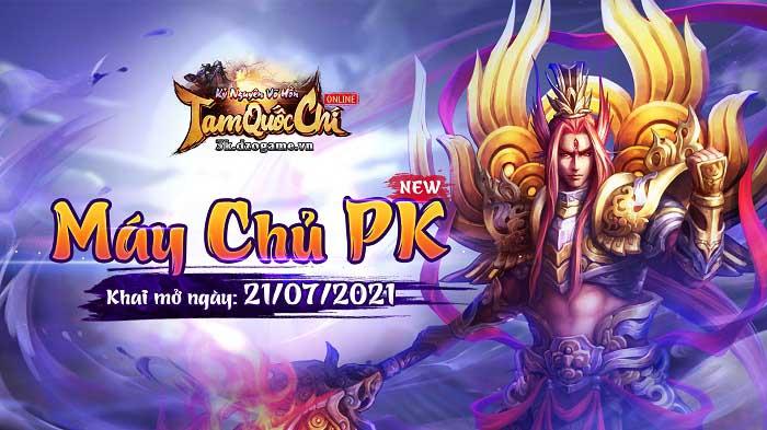 Tặng giftcode Tam Quốc Chí Online mừng khai mở máy chủ PK 1