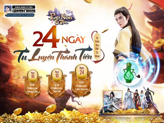 Phàm Nhân Tu Tiên 3D Funtap tung liên tiếp 2 sự kiện Đua top chiến lực và Đua top Phu Thê 1
