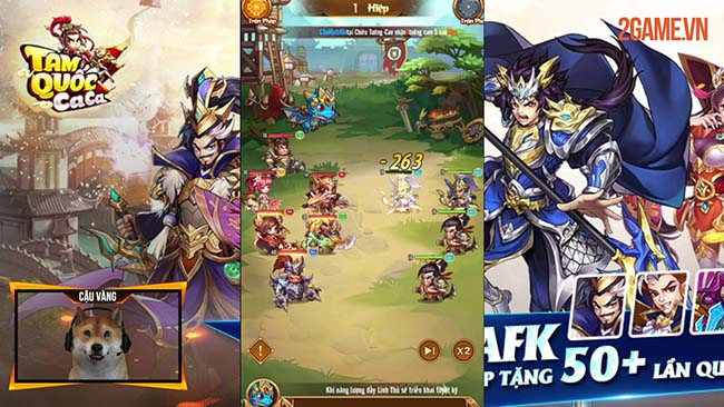 Trải nghiệm Tam Quốc Ca Ca SohaGame – Game thẻ tướng Idle với hệ thống tướng siêu to khổng lồ