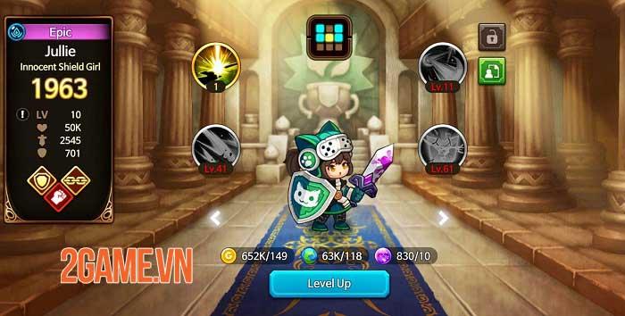 IDLE LUCA - Thách thức các thử thách vô tận với game idle RPG siêu đơn giản 3