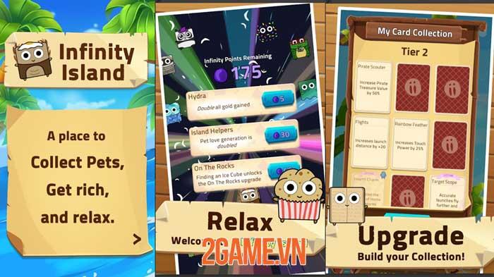 Infinity Island - Game nhàn rỗi thu thập vật nuôi và xây dựng hòn đảo 2