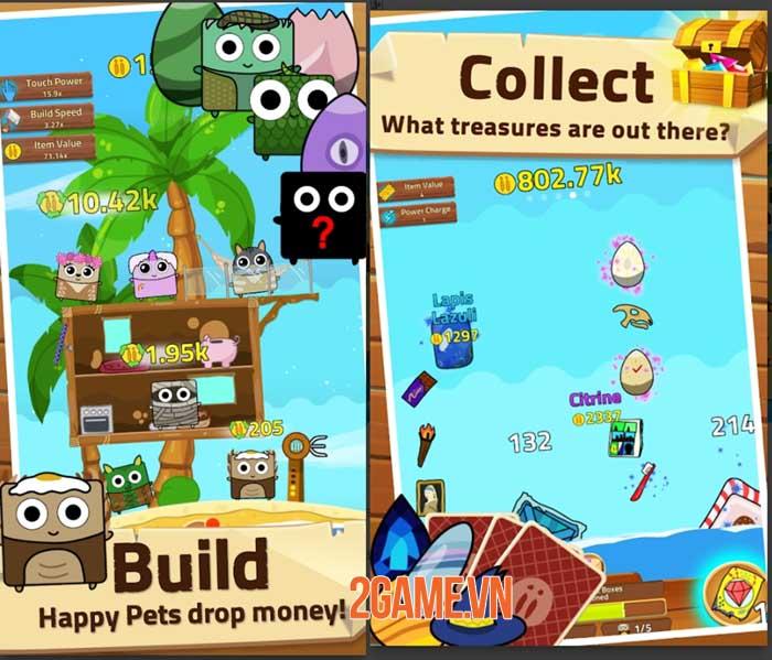 Infinity Island - Game nhàn rỗi thu thập vật nuôi và xây dựng hòn đảo 3