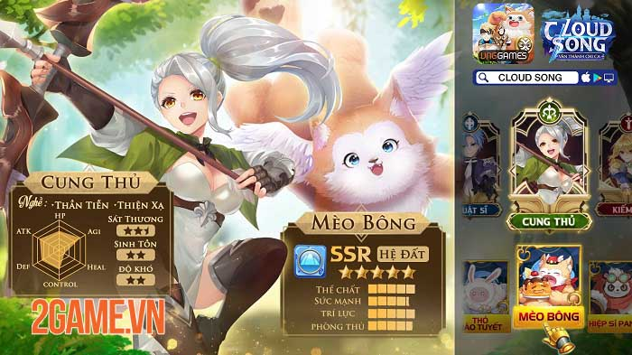 Khám phá thế giới fantasy, tận hưởng đồ họa tuyệt đỉnh trong Cloud Song VNG 7