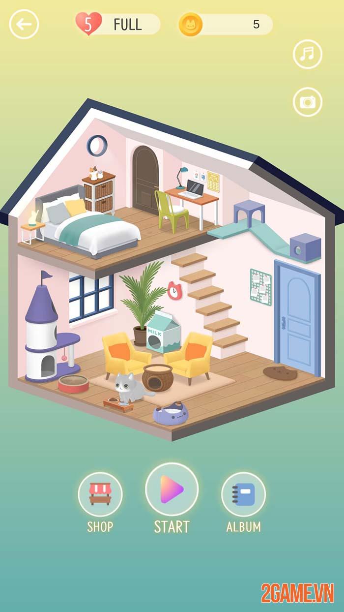 A Cat House - Game thú cưng dễ thương với lối chơi tìm điểm khác nhau 0