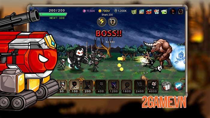 Stickman RPG - Chiếm lại Trái đất và giải cứu các công dân khỏi cái ác 1