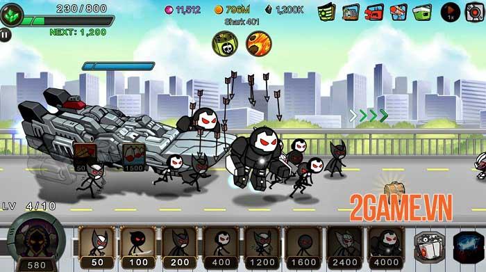 Stickman RPG - Chiếm lại Trái đất và giải cứu các công dân khỏi cái ác 2