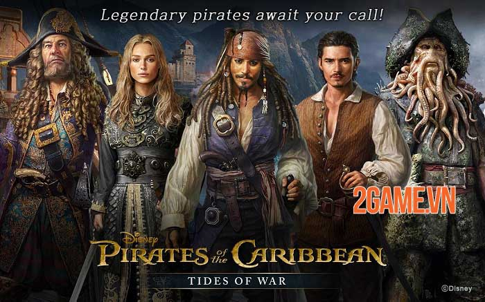 Pirates of the Caribbean: Tides of War - Game chiến thuật khởi động giấc mơ cướp biển 0