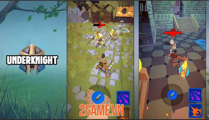 UnderKnight - Game roguelite full màn hình dọc điều khiển bằng một ngón tay 2