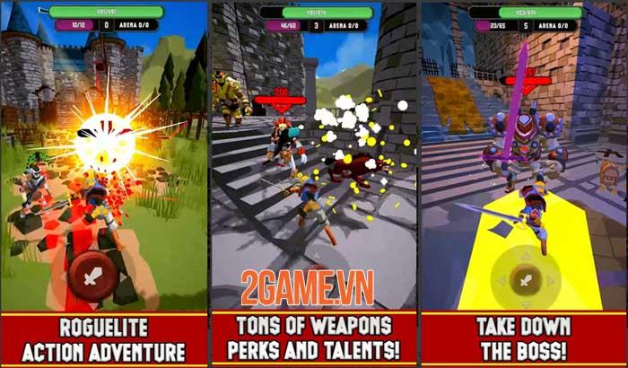 UnderKnight - Game roguelite full màn hình dọc điều khiển bằng một ngón tay 4