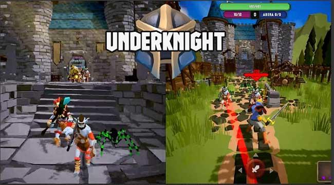 UnderKnight – Game roguelite full màn hình dọc điều khiển bằng một ngón tay