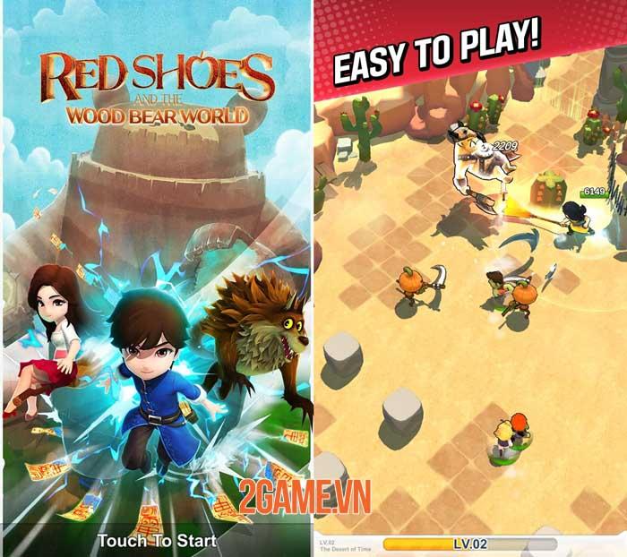 Red Shoes: Wood Bear World - Game màn hình dọc phong cách hoạt hình giải trí 0