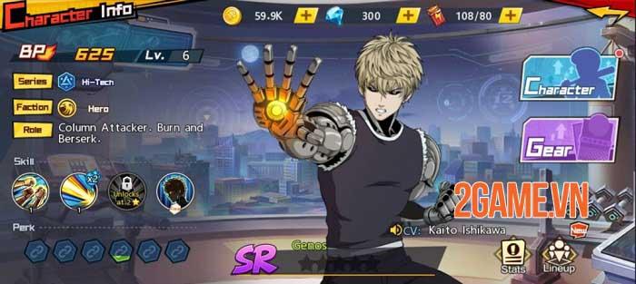 Dàn nhân vật One Punch Man: The Strongest được thiết kế chuẩn nguyên tác 6