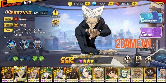 Dàn nhân vật One Punch Man: The Strongest được thiết kế chuẩn nguyên tác 8