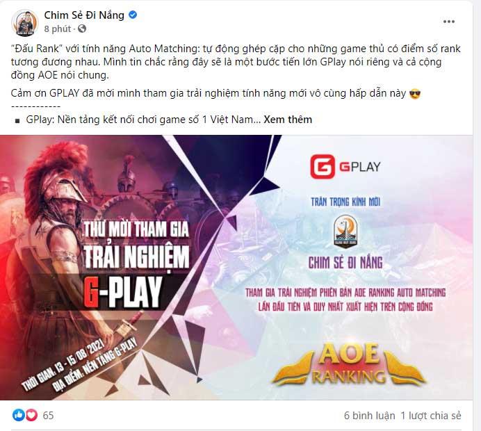 Cộng đồng fan AoE dậy sóng vì chia sẻ của Chim Sẻ Đi Nắng và các game thủ AoE khác 0
