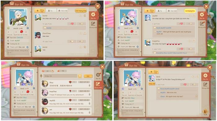 Cloud Song VNG: Cho phép mở trang cá nhân và tương tác ngay trong game 2