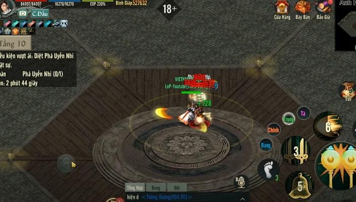Chinh phục Anh Hùng Tháp - tính năng siêu hot của bản Update Võ Lâm Truyền Kỳ 1 Mobile 3