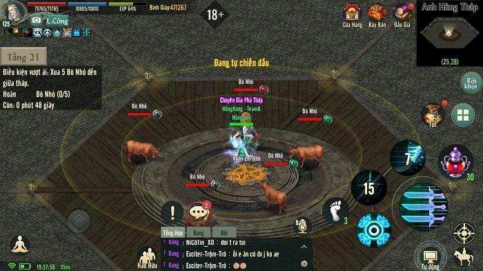 Chinh phục Anh Hùng Tháp - tính năng siêu hot của bản Update Võ Lâm Truyền Kỳ 1 Mobile 7