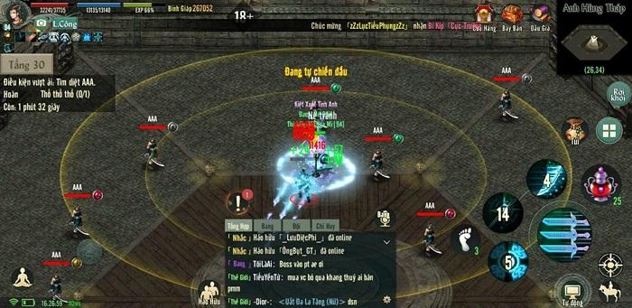 Chinh phục Anh Hùng Tháp - tính năng siêu hot của bản Update Võ Lâm Truyền Kỳ 1 Mobile 8