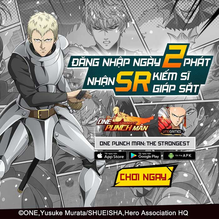 Tặng 500 giftcode One Punch Man: The Strongest mừng ra mắt thành công 0