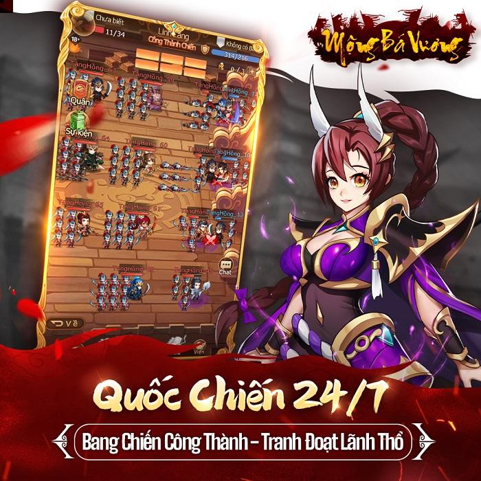 Mộng Bá Vương  – Tựa game mobile chiến thuật Tam Quốc cực Cute sắp ra mắt 2