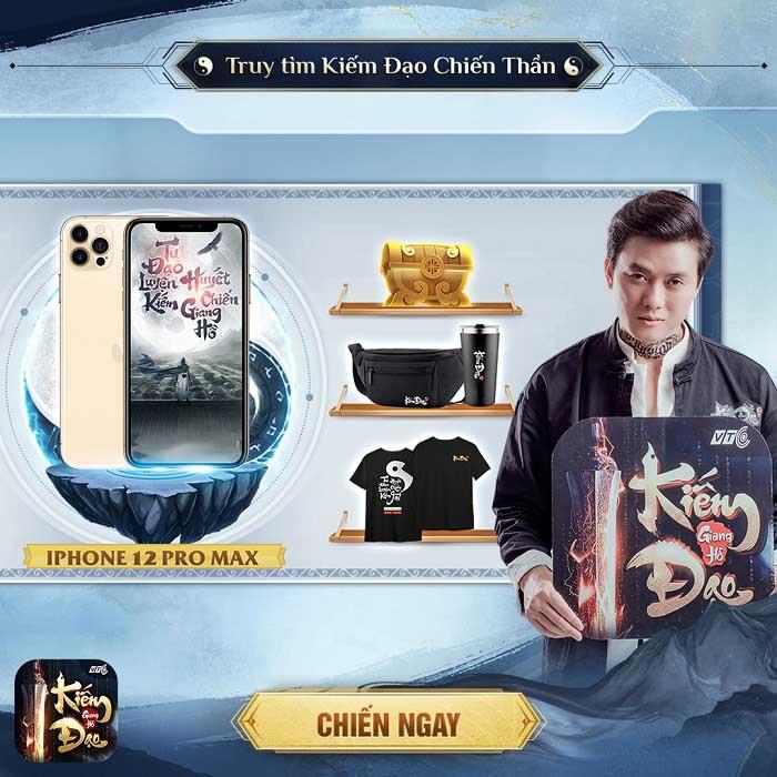 Rinh ngay tiền mặt bỏ túi cùng Iphone 12 Pro max với sự kiện đua Top cực hấp dẫn tại Kiếm Đạo Giang Hồ 2