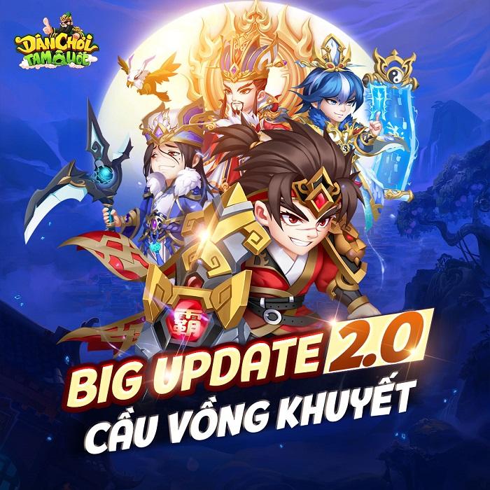 """Game thủ Dân Chơi Tam Quốc """"phát cuồng"""" với Big Update 2.0 Cầu Vồng Khuyết 1"""