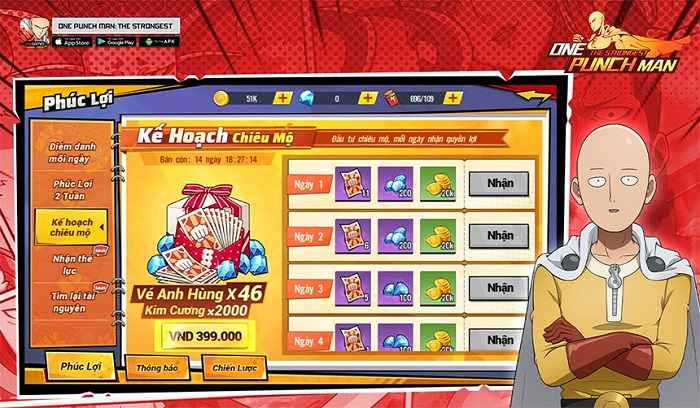 """""""Thiên đường"""" quà tặng cực xịn ở One Punch Man: The Strongest 2"""