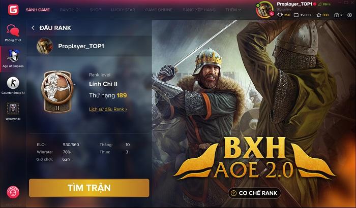 AoE Ranking - Bước đột phá mới giúp AoE hướng đến đấu trường thể thao điện tử chuyên nghiệp 2