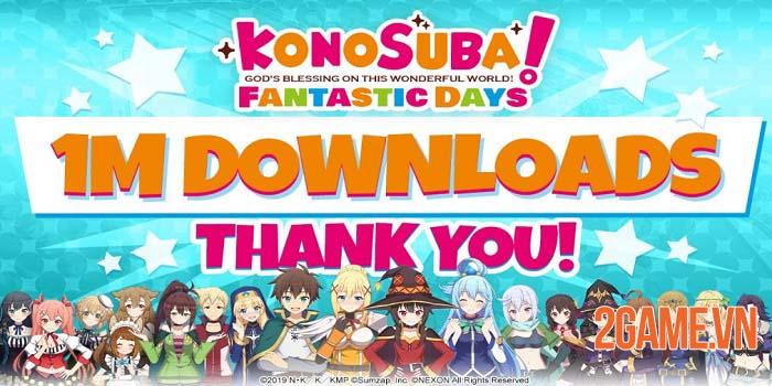 KonoSuba: Fantastic Days đạt một triệu lượt tải xuống chỉ sau năm ngày 2