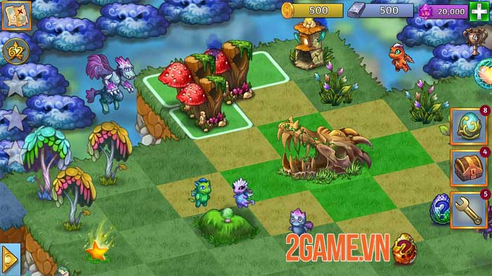 Merge Dragons - Game phiêu lưu giải đố bối cảnh thế giới rồng huyền bí 4