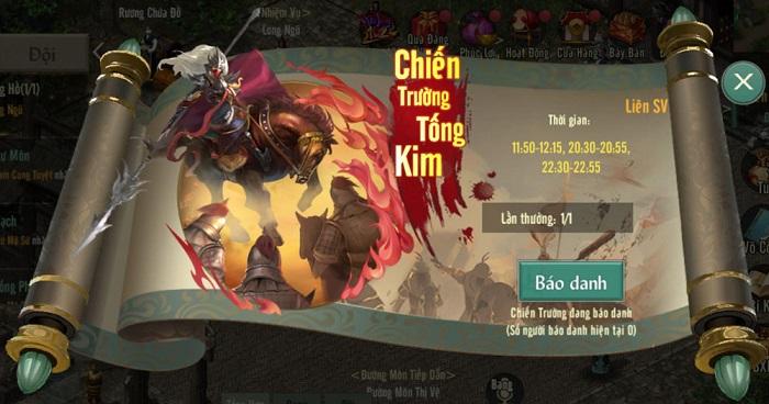 Tống Kim liên server: Thử thách mới cho game thủ Võ Lâm Truyền Kỳ 1 Mobile 0