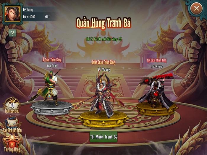 Đế Vương Tam Quốc - Top 1 game chiến thuật Tam Quốc sắp ra mắt game thủ Việt 4