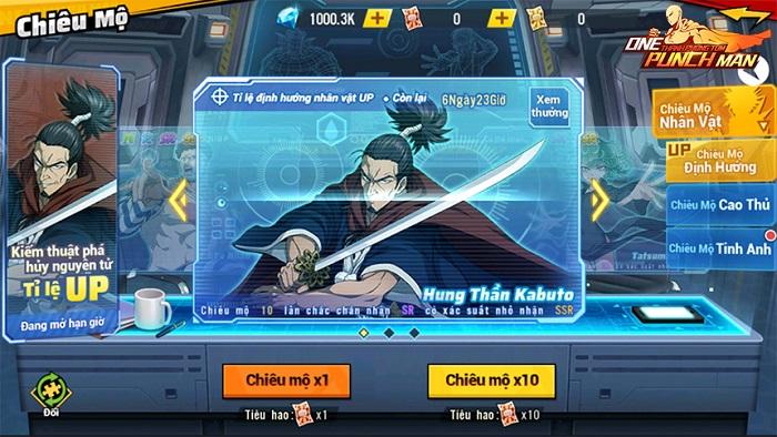 One Punch Man: The Strongest ra mắt chuỗi sự kiện Samurai nguyên tử 0