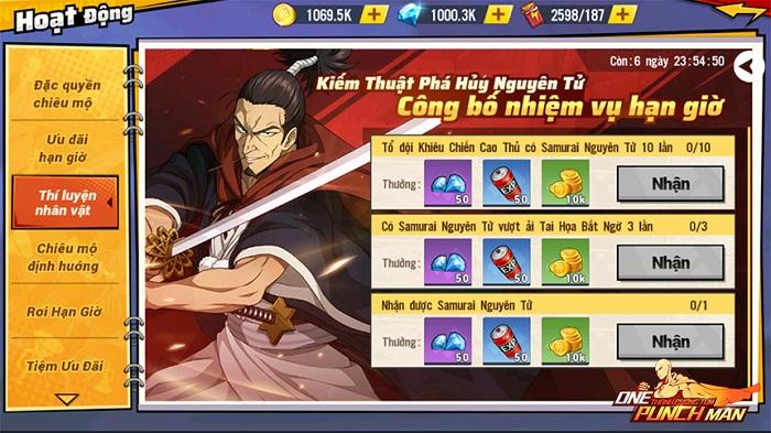 One Punch Man: The Strongest ra mắt chuỗi sự kiện Samurai nguyên tử 2