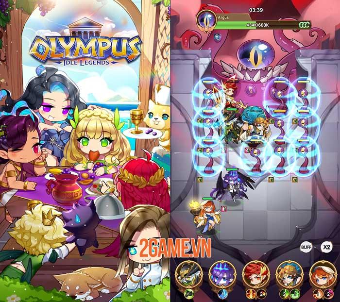 Olympus: Idle Legends - Game nhập vai chiến thuật phong cách manga 2